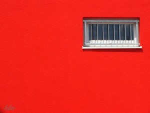 aid Rote Fassade